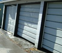 line of garage doors