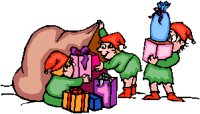 elves packing toy sack