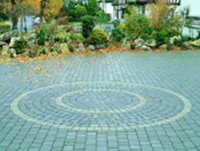 patterned block paving