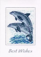 dolphins in cross stitch
