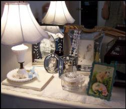 lamp on dressing table