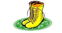 yellow laced ankle boots