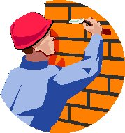 builder pointing bricks