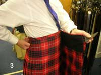how to wrap top apron of kilt over hip