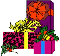 gifts and presents gfit wrapped with bows