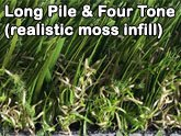 long pile four tone realistic artificial moss infill