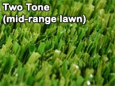 two tone mid range artificial lawn