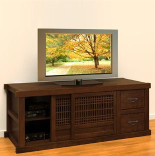 plasma tv on top of cabinet