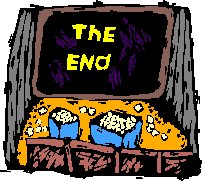 The End on screen
