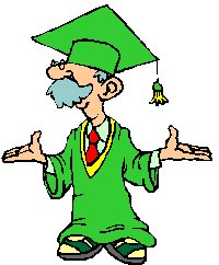 cartoon character dressed as a graduate