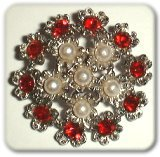 brooch set with gem stones and pearls