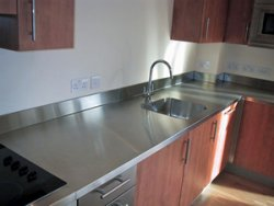 stainless steel worktop