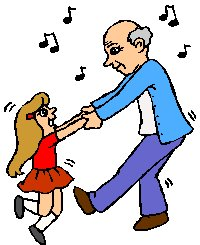 man dancing with little girl