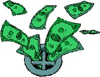 cash going down drain