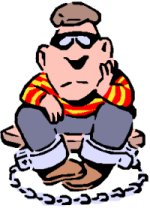prisoner in ball and chain