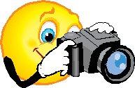 cartoon sun holding camera