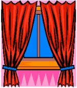 curtains / drapes at a window