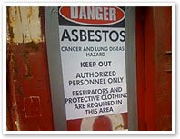 Asbestos hazard warning