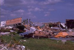 picture of the aftermath after a tornado or hurricane