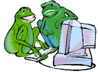 frogs using computer