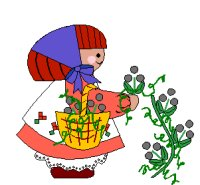 girl with basket and flowers