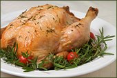 roast chicken on plate
