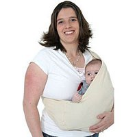 lady carrying baby in a sling