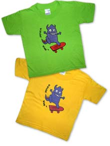 brightly coloured T-shirts