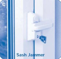 window sash jammer lock